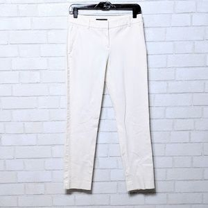Theory Off-White Straight Leg Trouser Pants 4